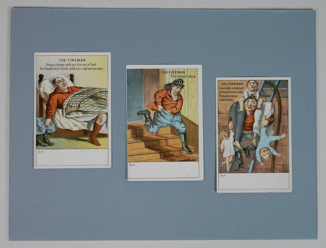 3 'The Firemen' trading cards - 2