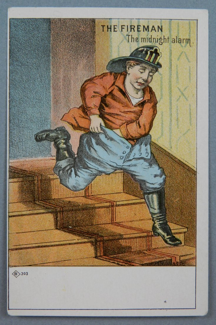 3 'The Firemen' trading cards - 4