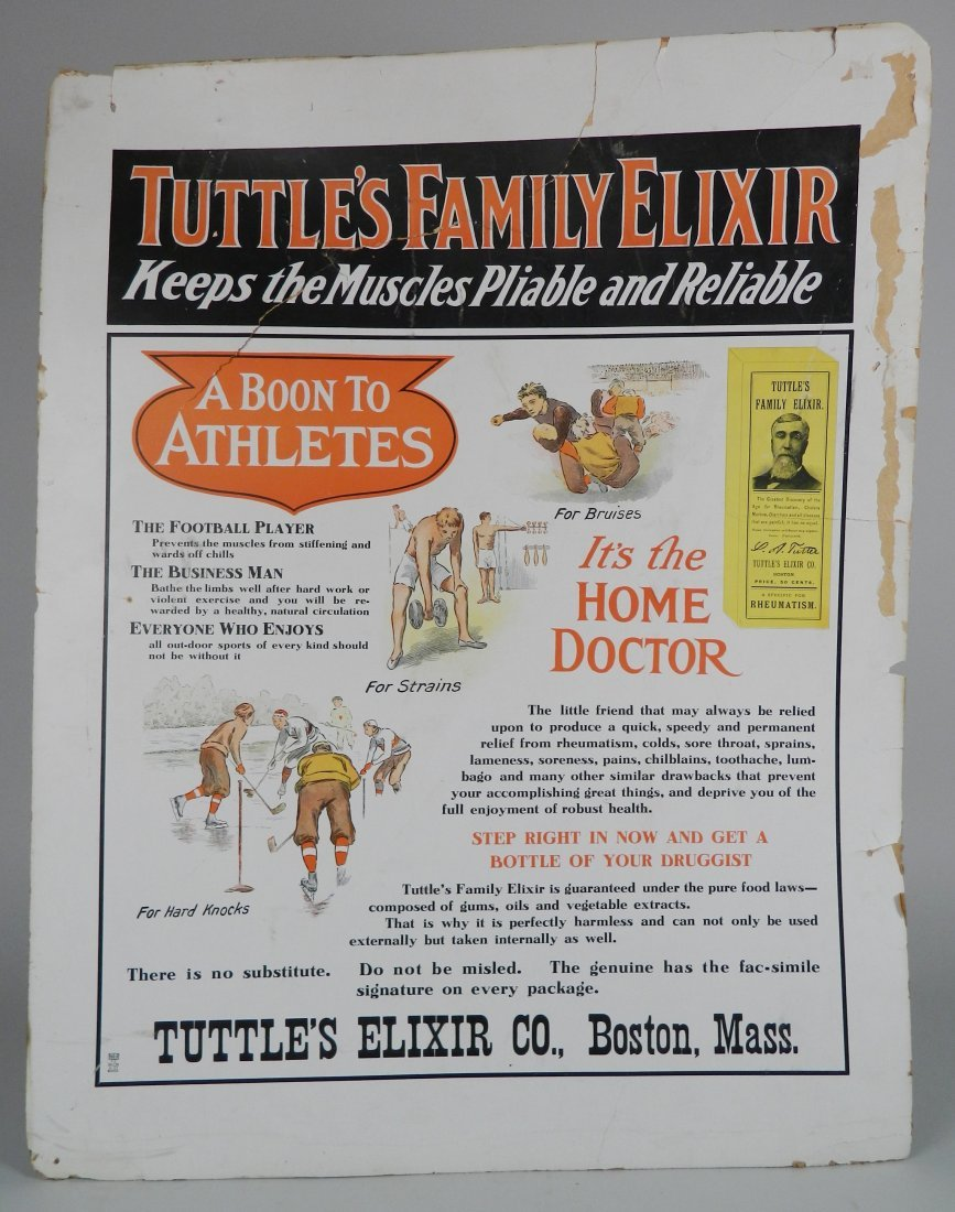 ''Tuttle's Family Elixir'' advertisement sign - 2