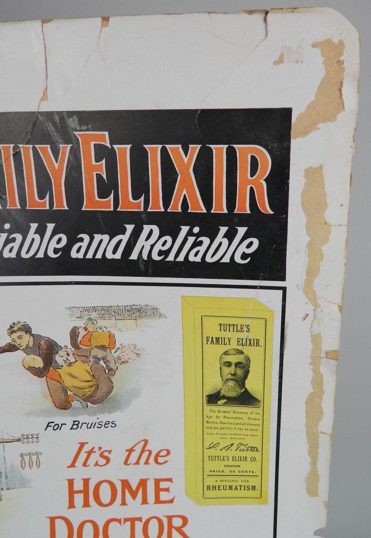 ''Tuttle's Family Elixir'' advertisement sign - 3