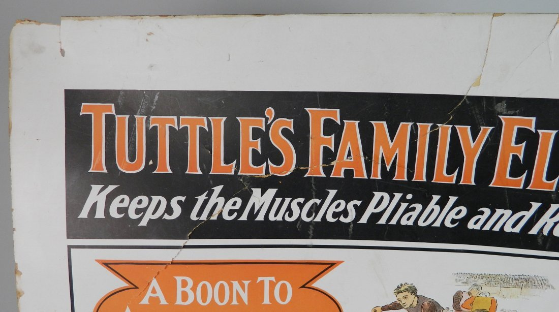 ''Tuttle's Family Elixir'' advertisement sign - 4