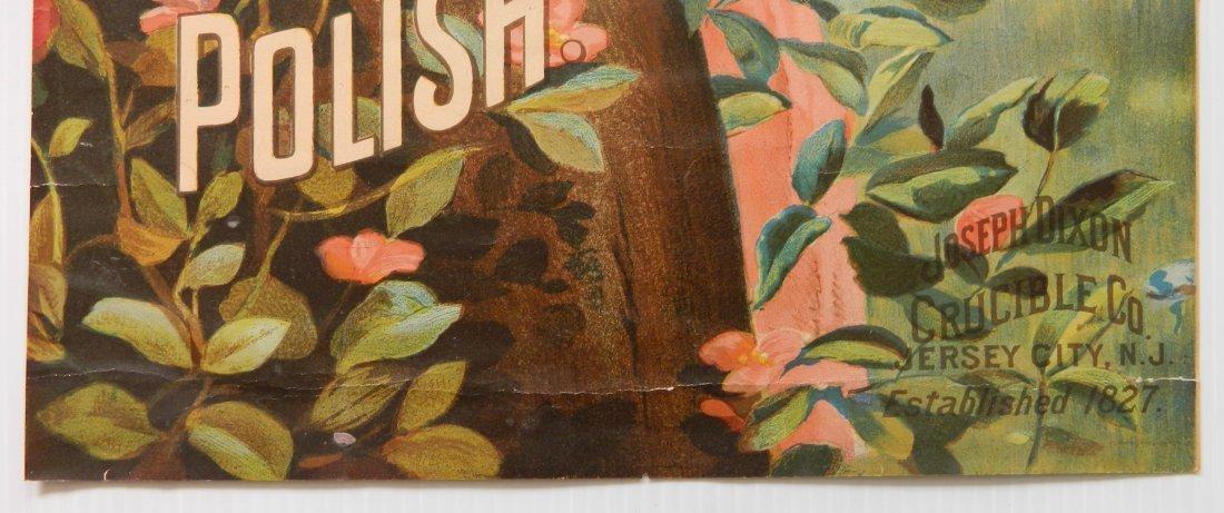 Dixon's 'Caburet of Iron' stove polish paper sign - 3