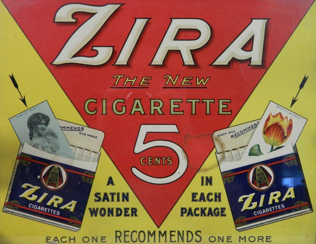 Zira Cigarette paper sign