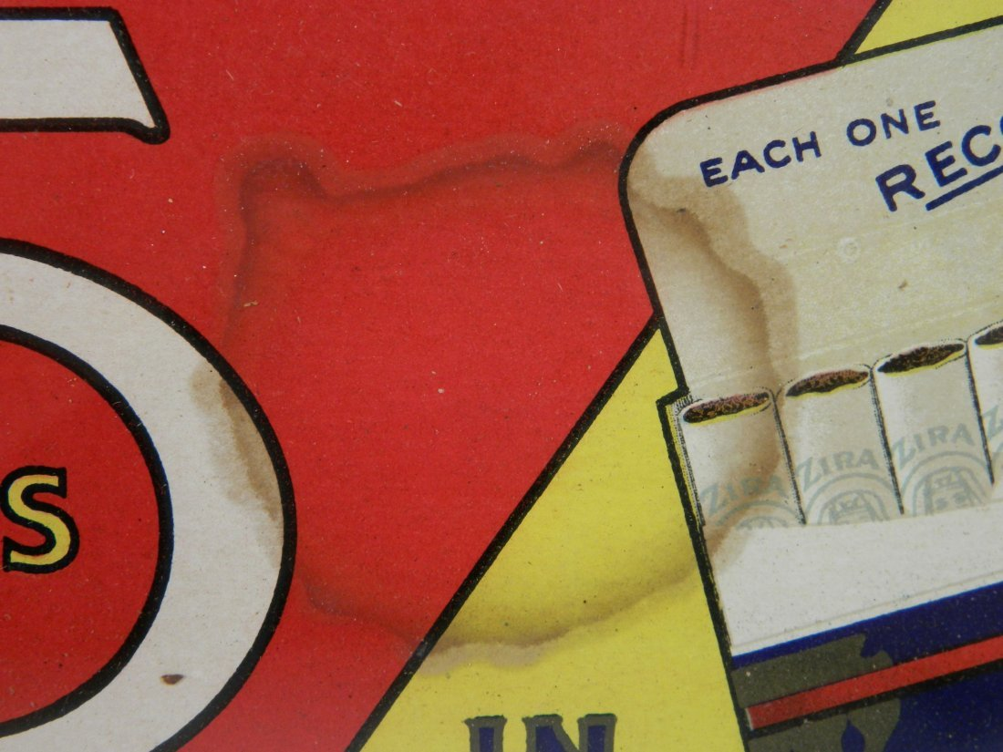 Zira Cigarette paper sign - 3