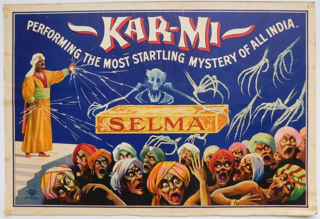 Kar-Mi 'Selma' Magician poster