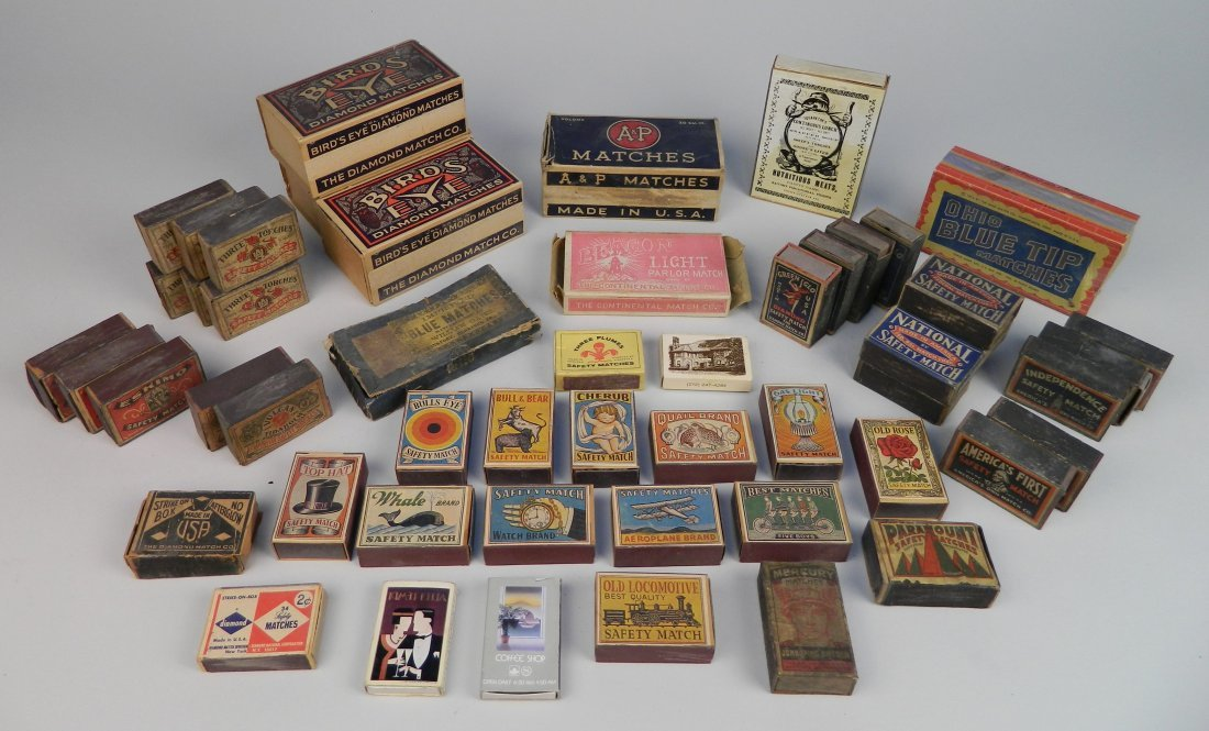 40 Vintage boxes of matches