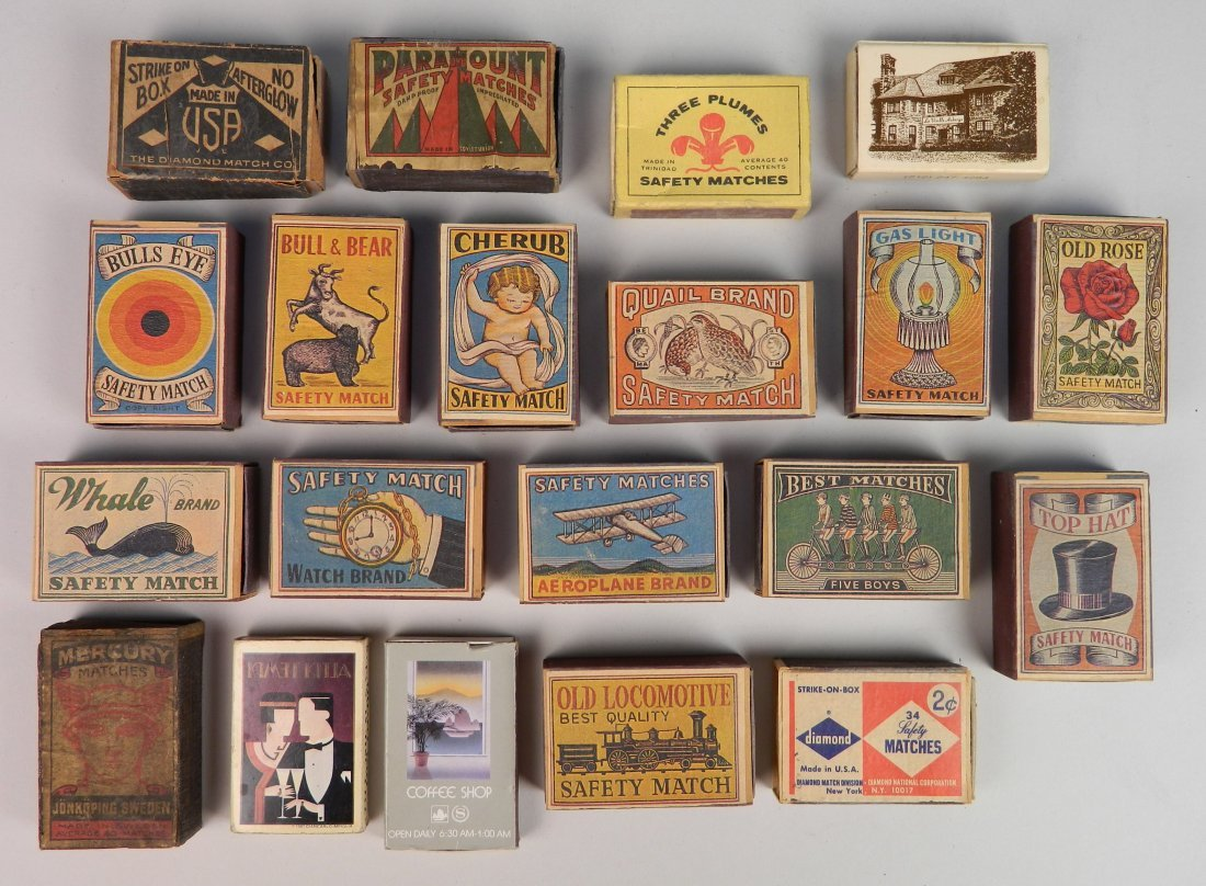 40 Vintage boxes of matches - 2