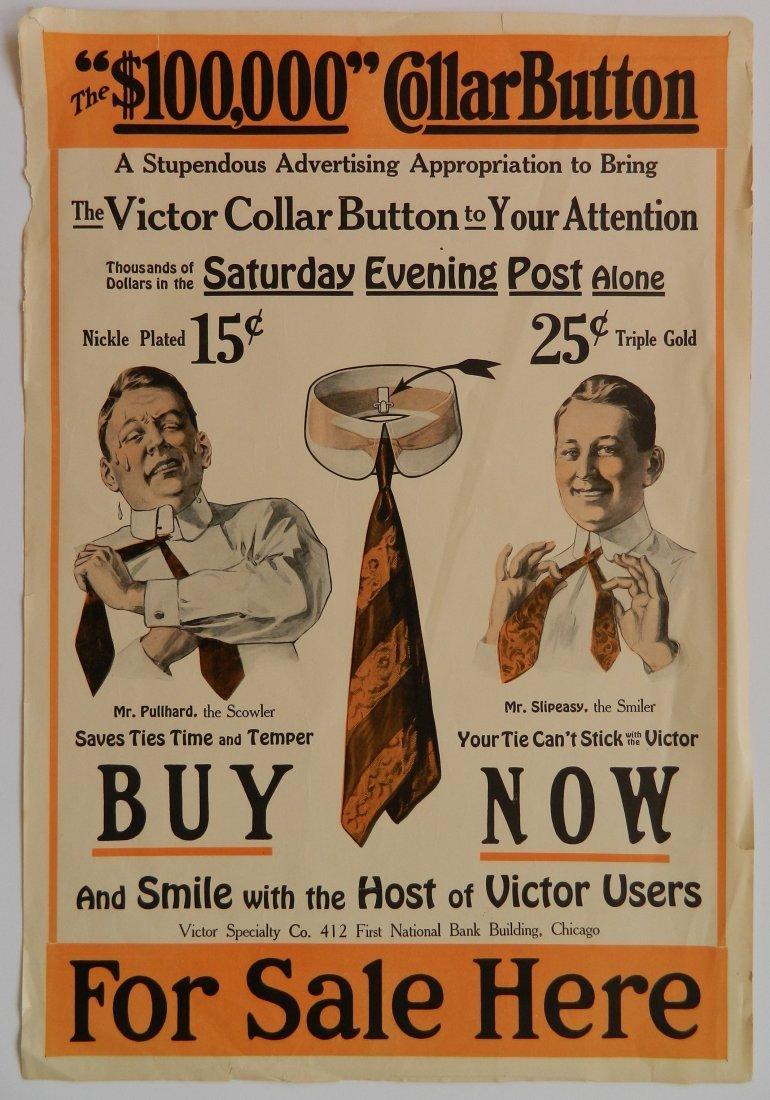 Victor Collar Button paper advertisement