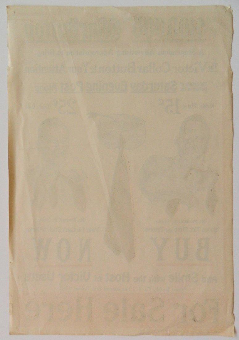Victor Collar Button paper advertisement - 5