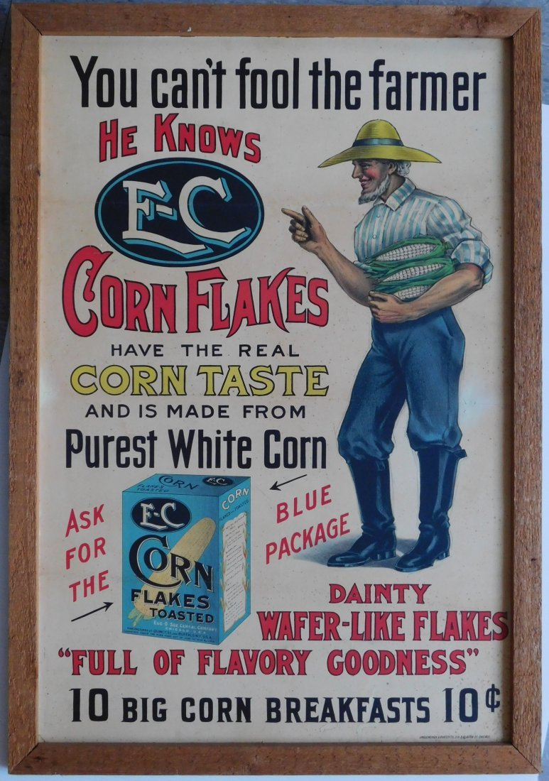 E-C Toasted Corn Flakes poster