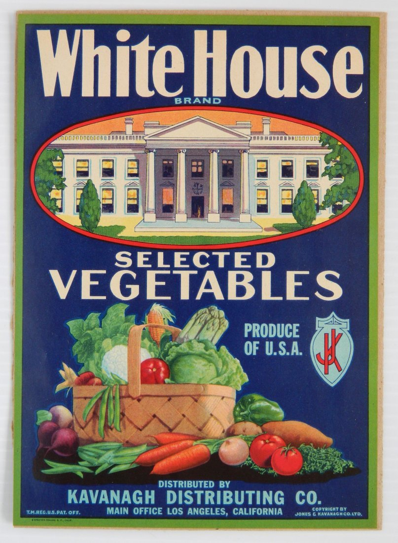 White House Vegetables paper advertisement