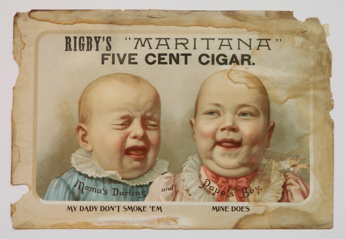 Rigby's 'Maritaa' Cigar advertisement sign