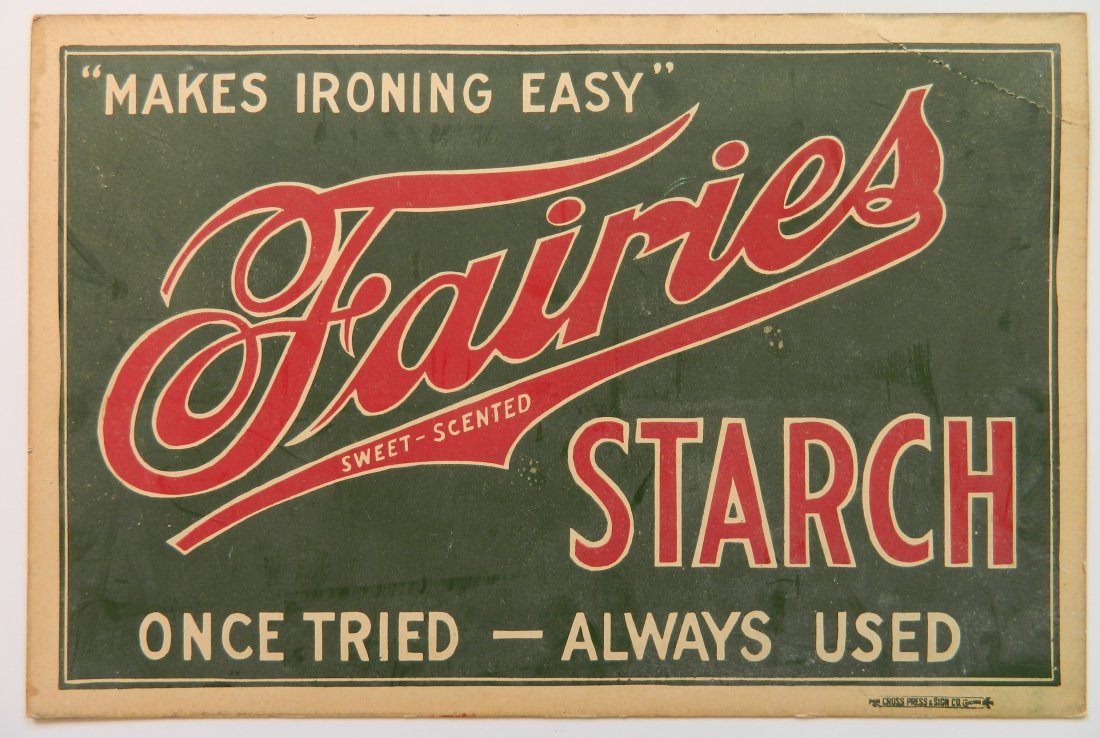 Fairies Starch advertisement cardboard sign - 2