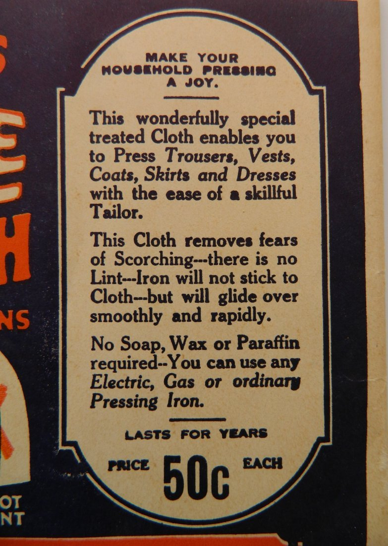 Fairies Starch advertisement cardboard sign - 7