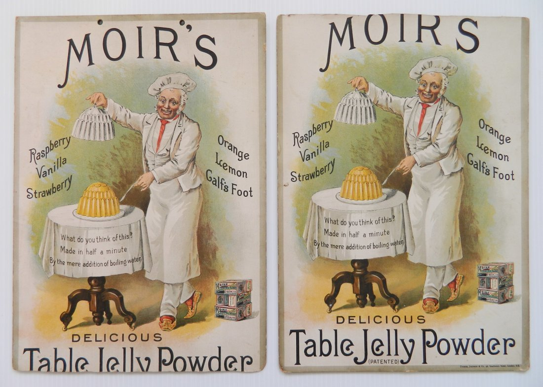 2 Moir's Table Jelly Powder advertisements