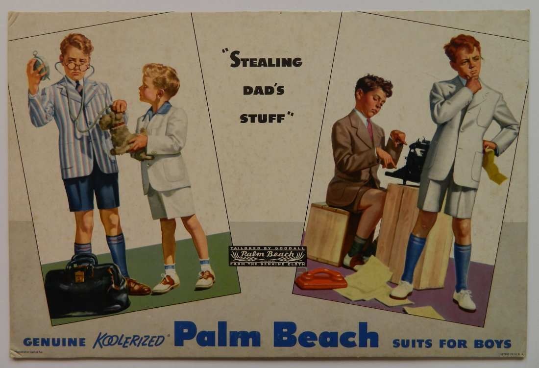 Koolerized Palm Beach Suits for Boys display sign - 2