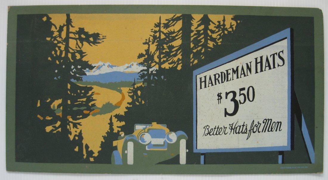 Hardeman Hats cardboard sign - 2