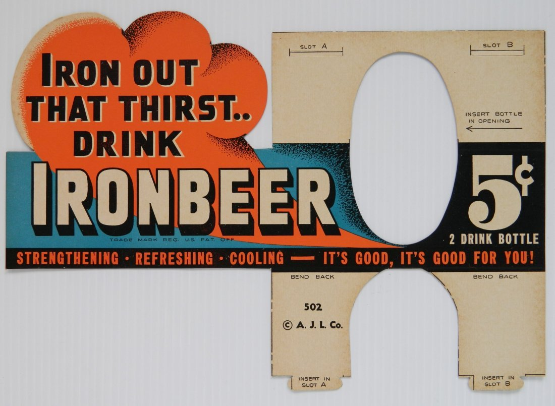 Iron Beer Advertising tagboard sign