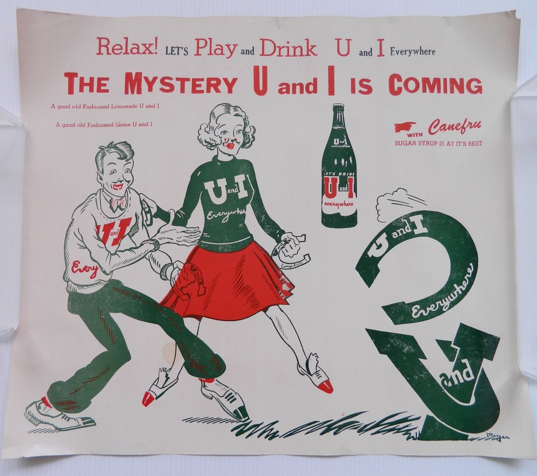 2 U & I Drink advertisement signs - 2