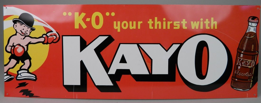 Kayo Chocolate Cola sign
