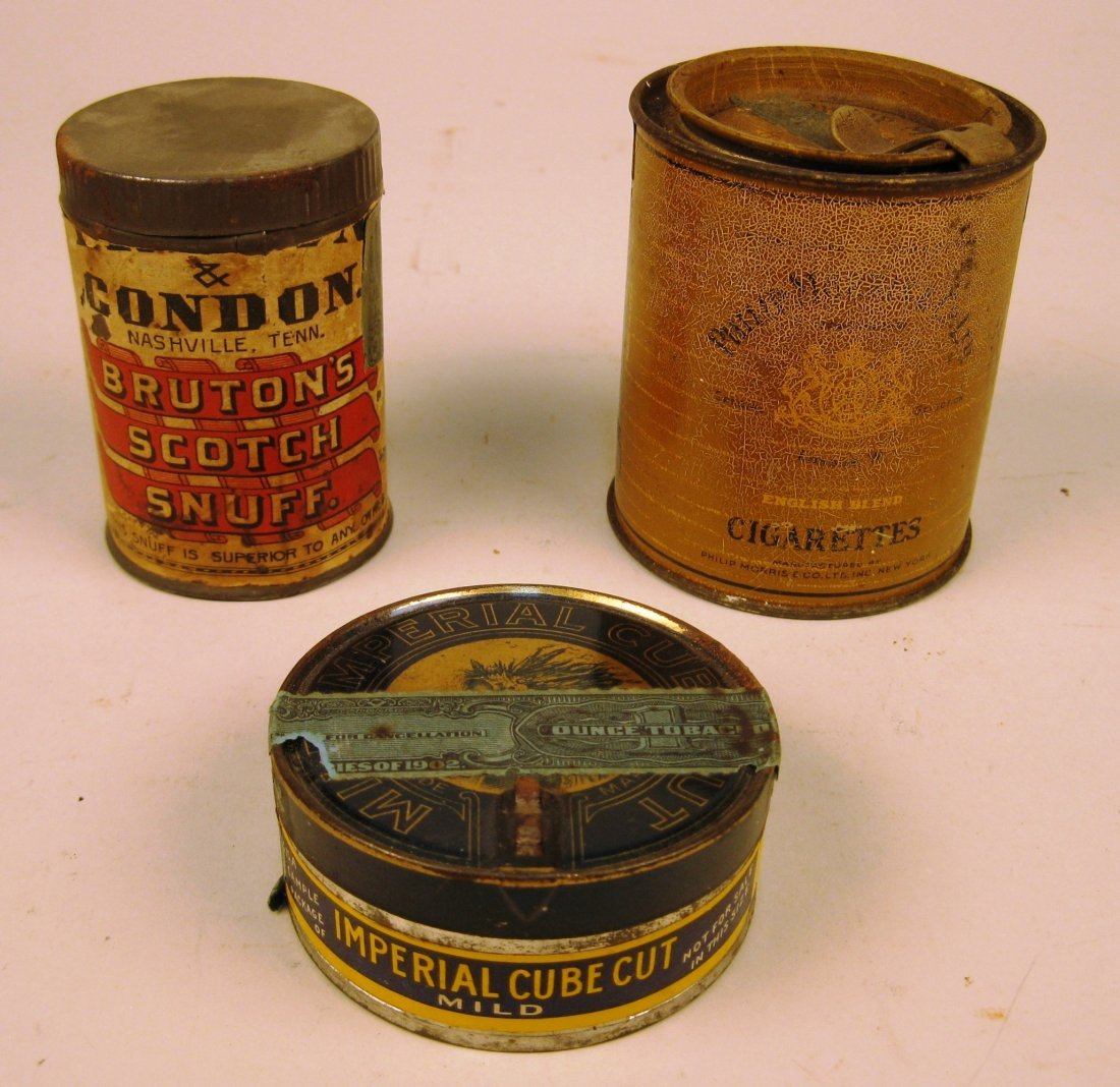 5 Tin tobacco containers - 2