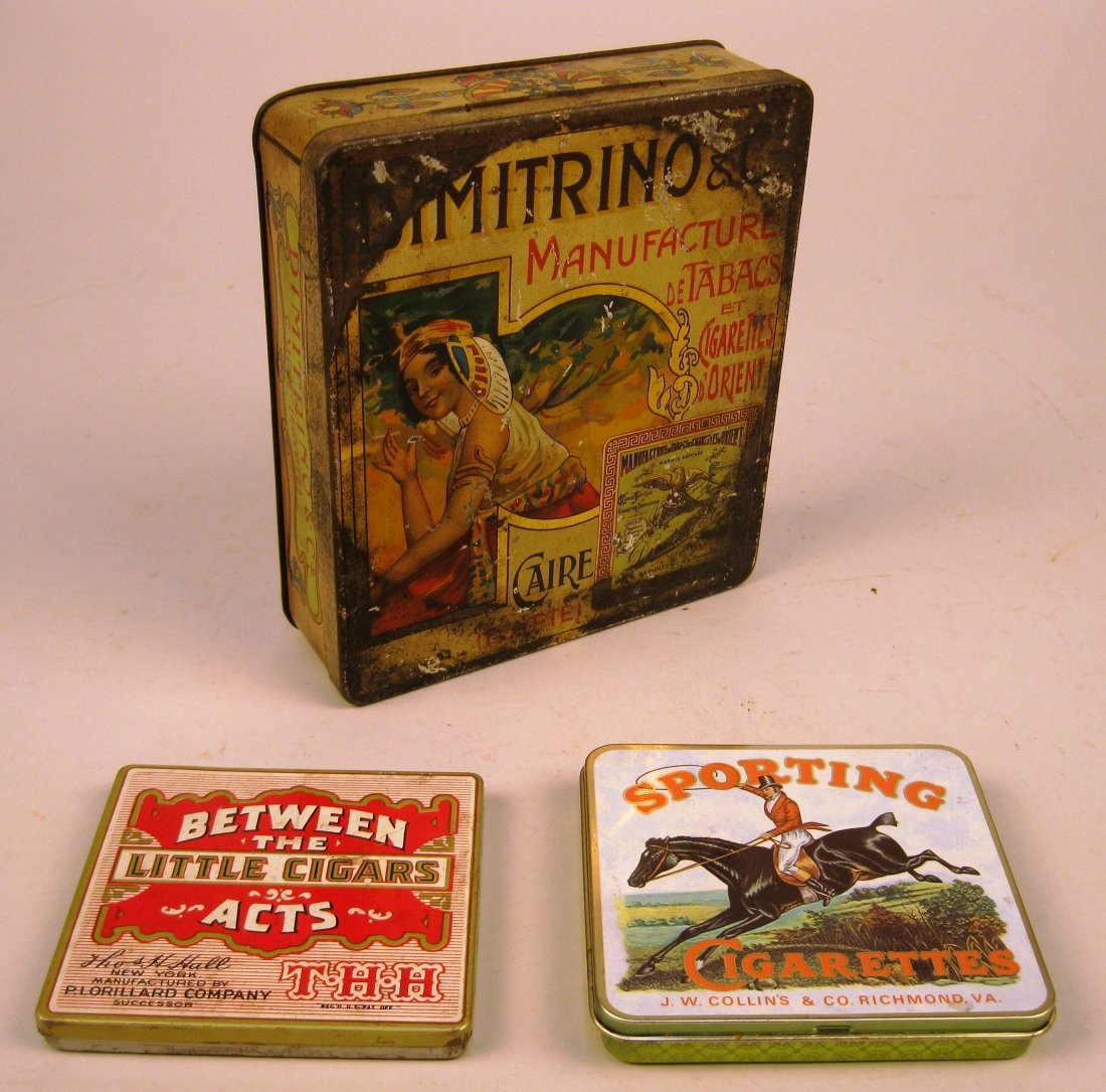 5 Tin tobacco containers - 3