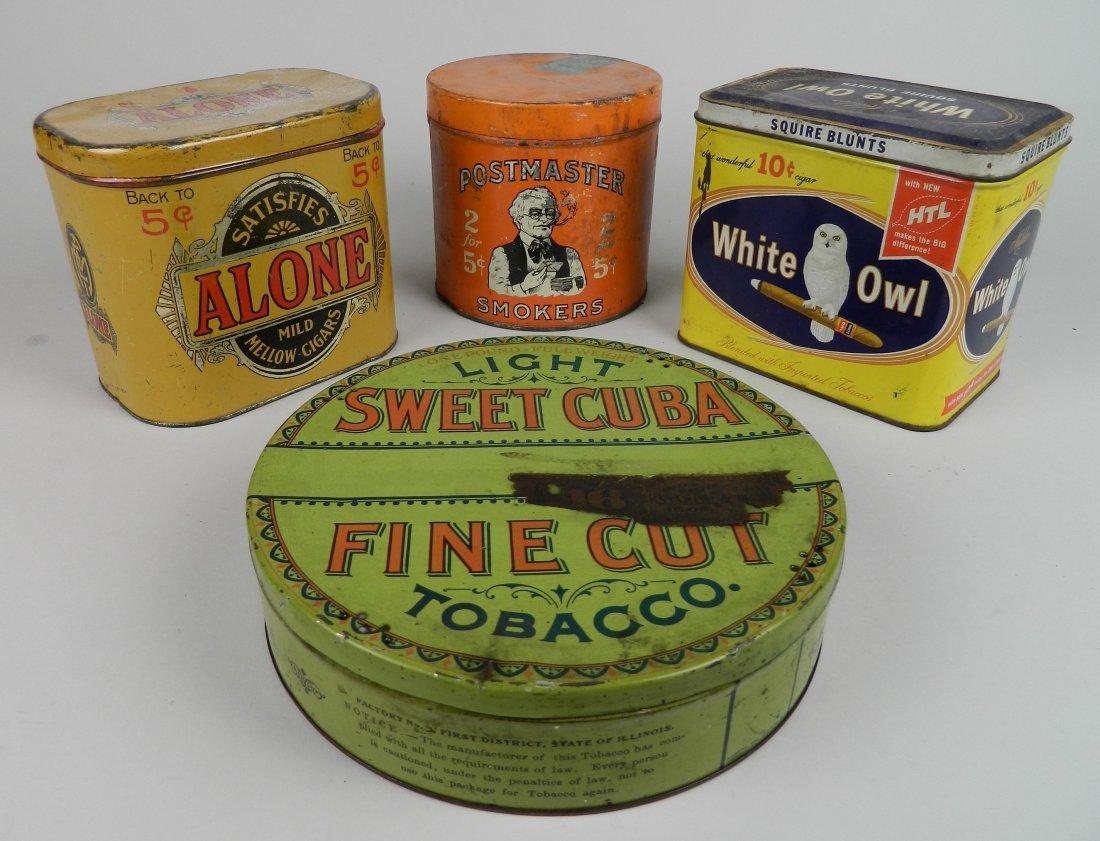 4 Vintage tobacco tins