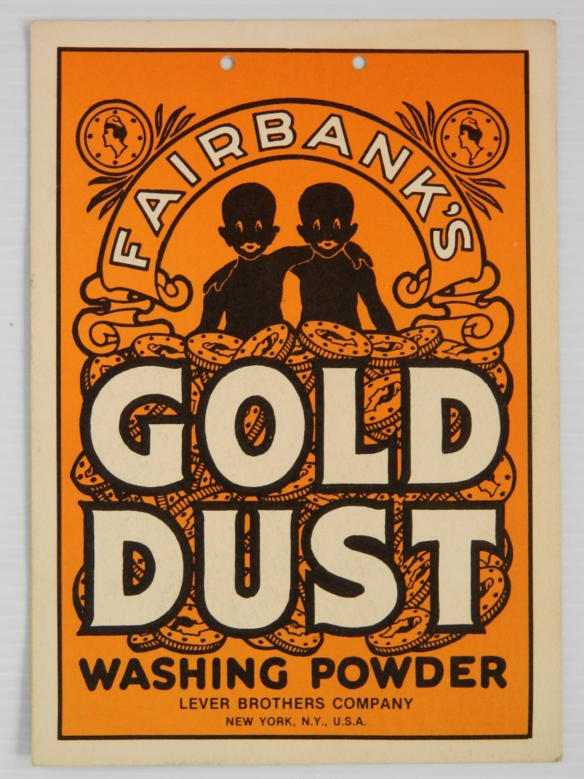 Fairbanks Gold Dust washing powder sign