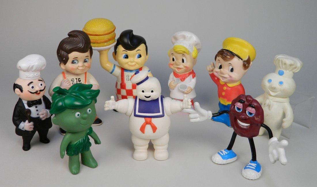 9 Rubberized advertising dolls
