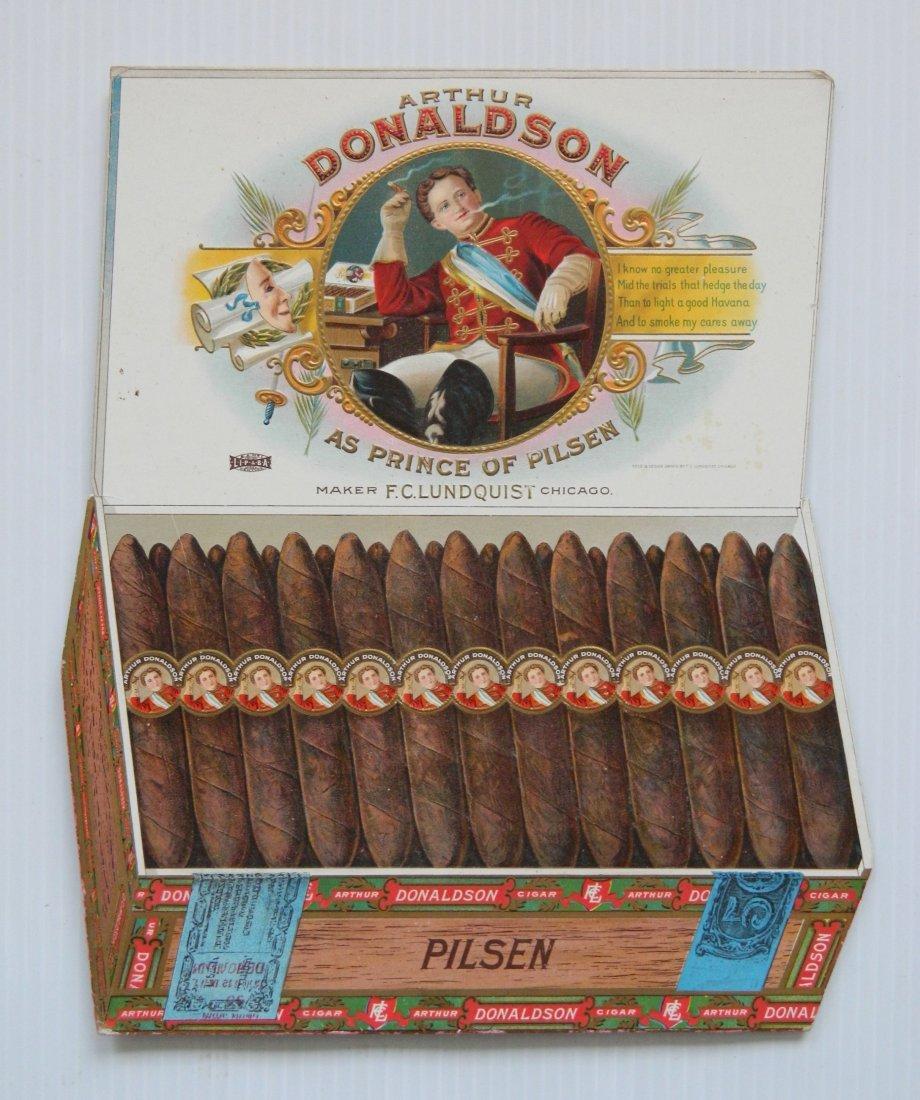Arthur Donaldson Cigar countertop display sign