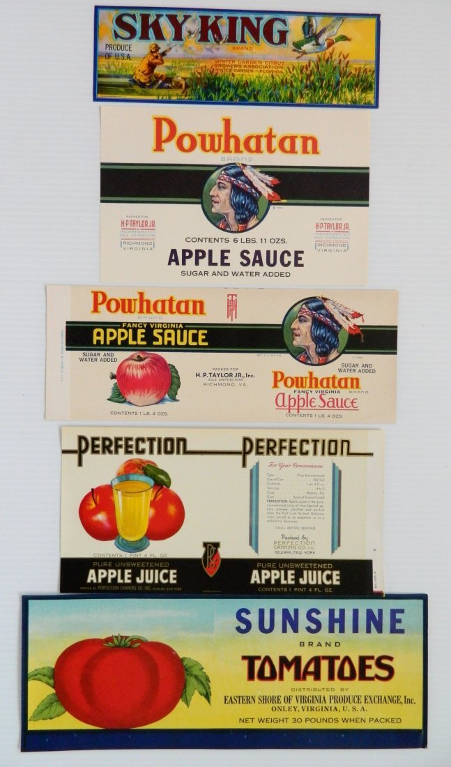 12 Miscellaneous crate or can labels - 4