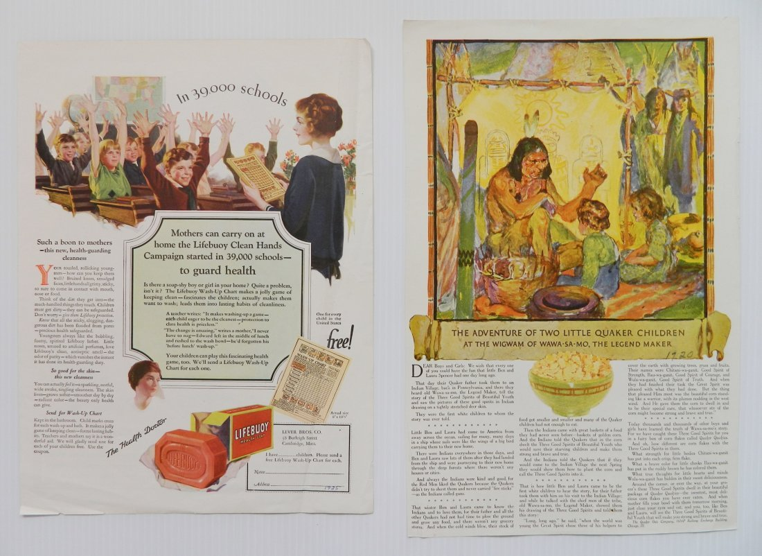 Misc. lot of advertisement labels and almanacs - 3