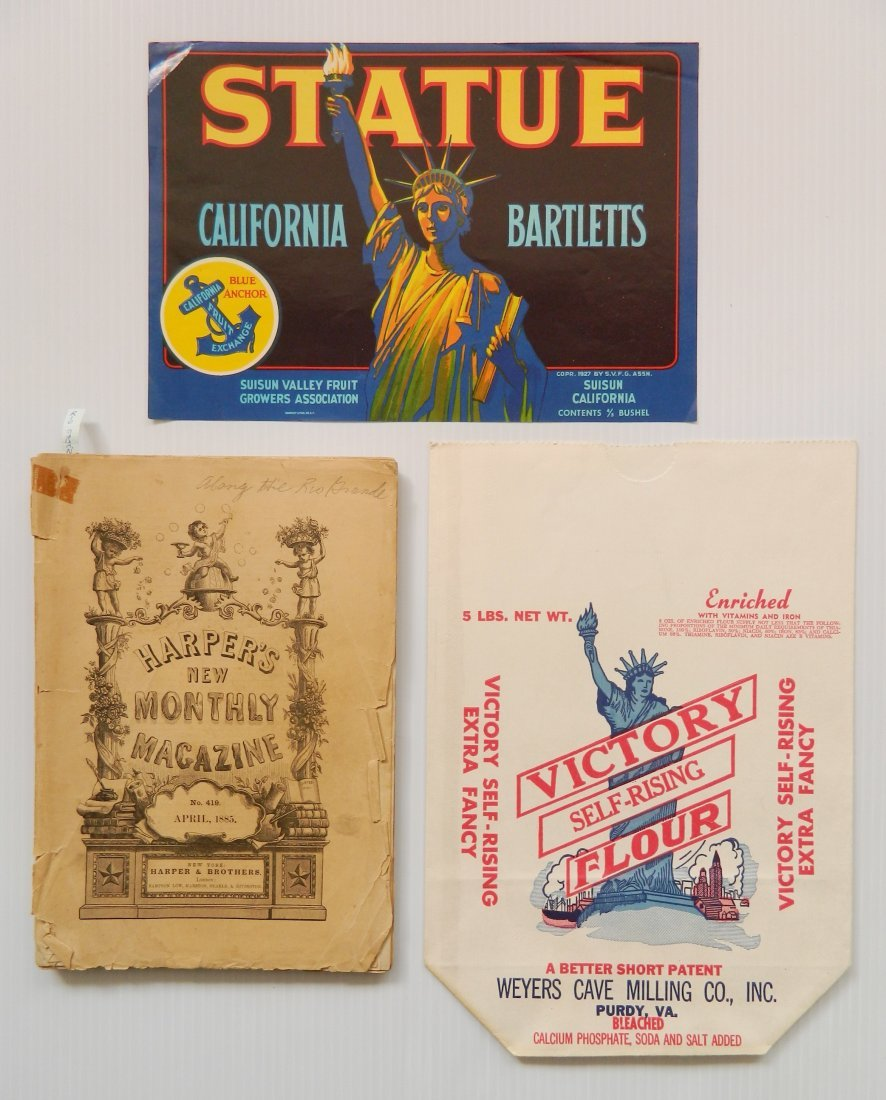 Misc. lot of advertisement labels and almanacs - 4