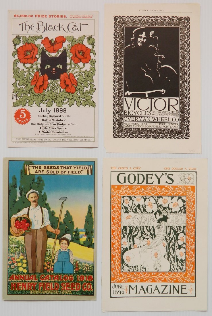 Misc. lot of advertisement labels and almanacs - 7