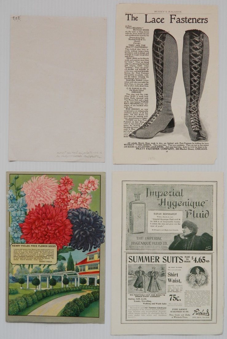 Misc. lot of advertisement labels and almanacs - 8