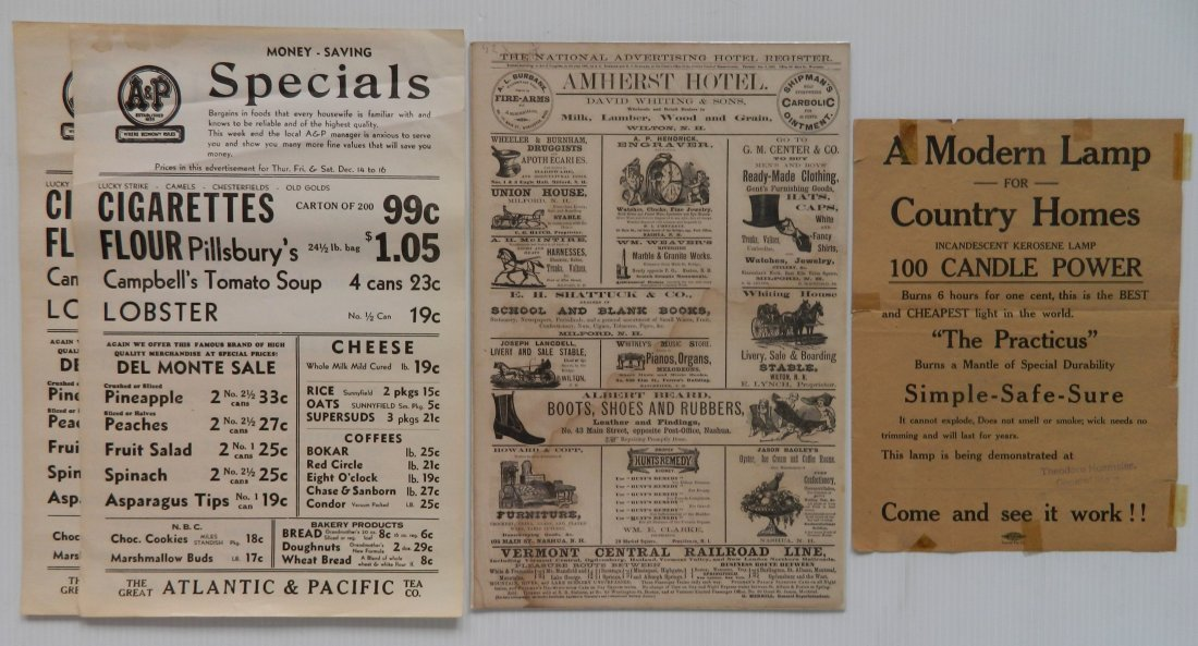 6 Vintage advertisement ephemera - 4