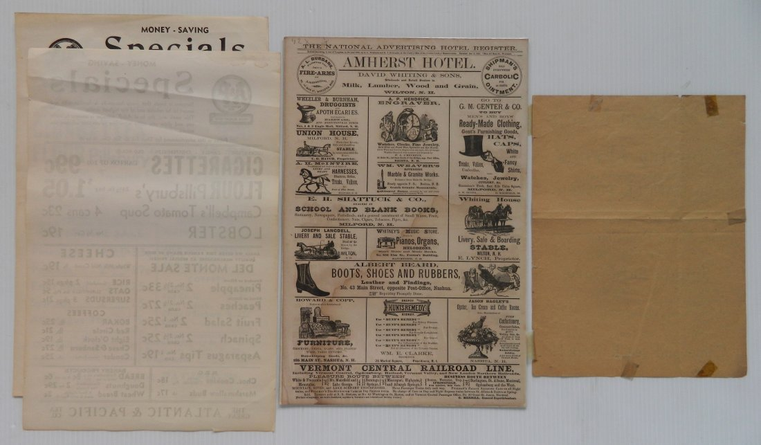 6 Vintage advertisement ephemera - 5