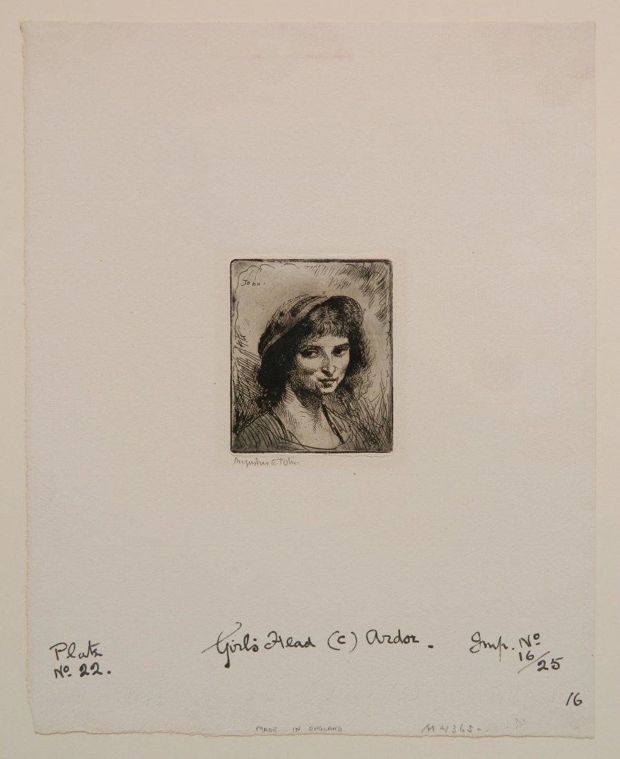 Augustus John etching - 2