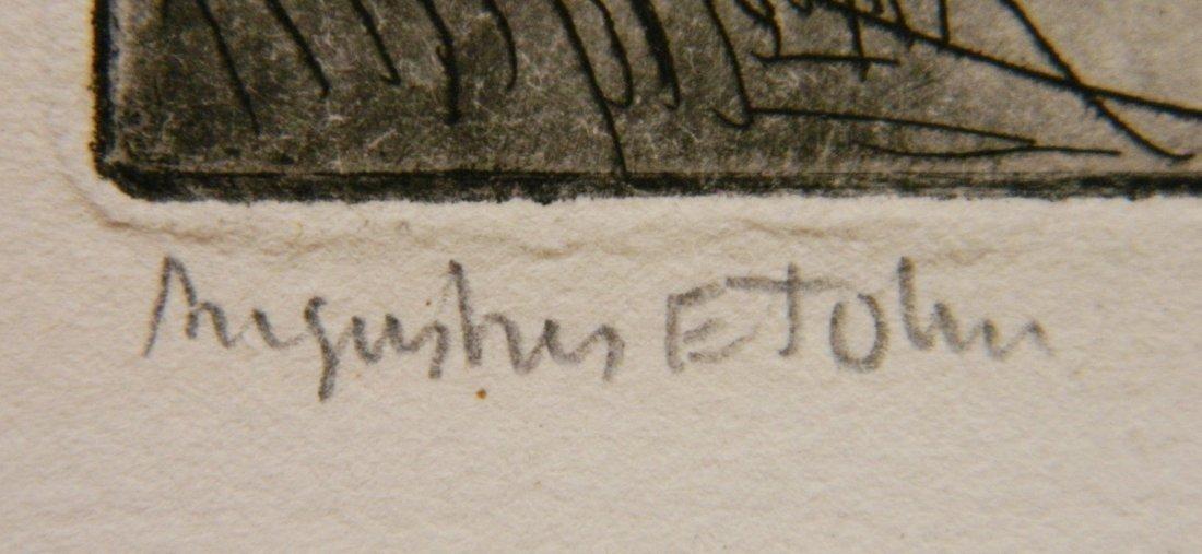 Augustus John etching - 3