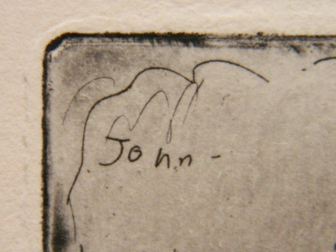 Augustus John etching - 4