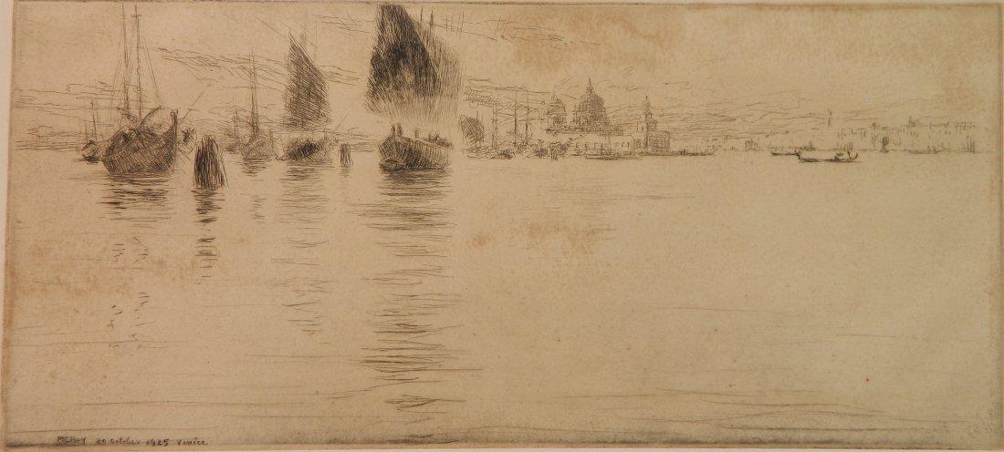 James McBey etching