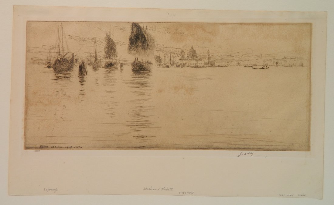James McBey etching - 2