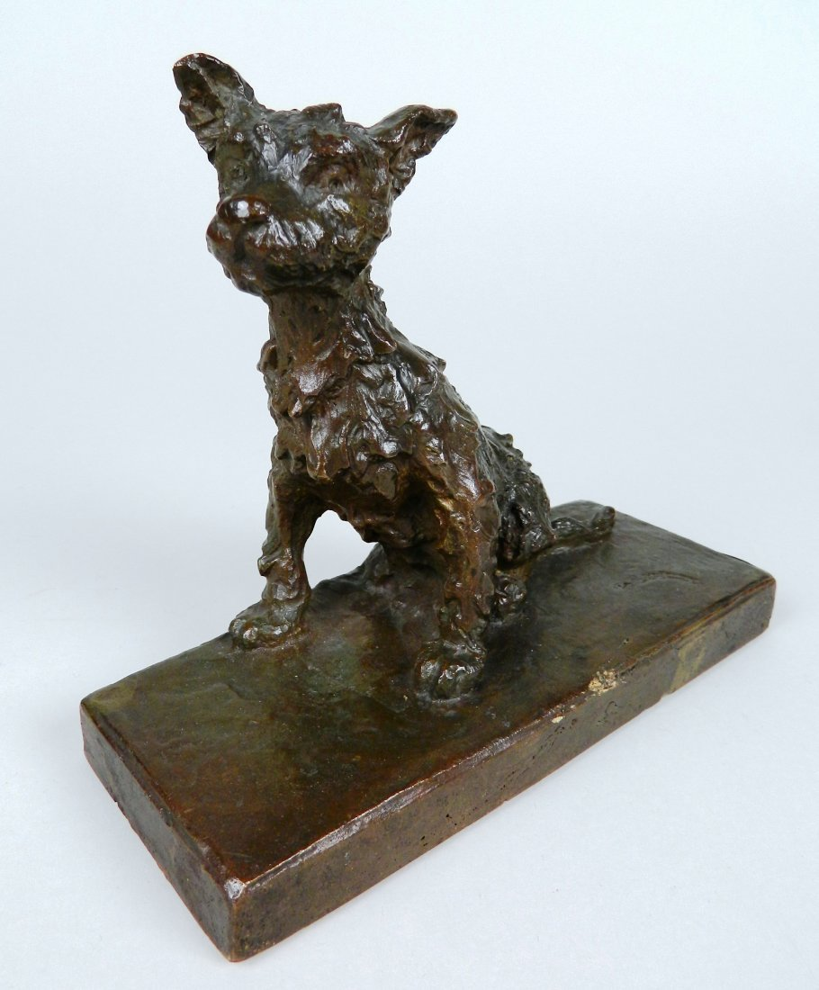 Edith B. Parsons pair of bronze bookends - 3