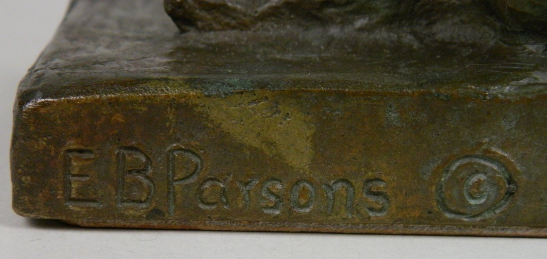 Edith B. Parsons pair of bronze bookends - 9