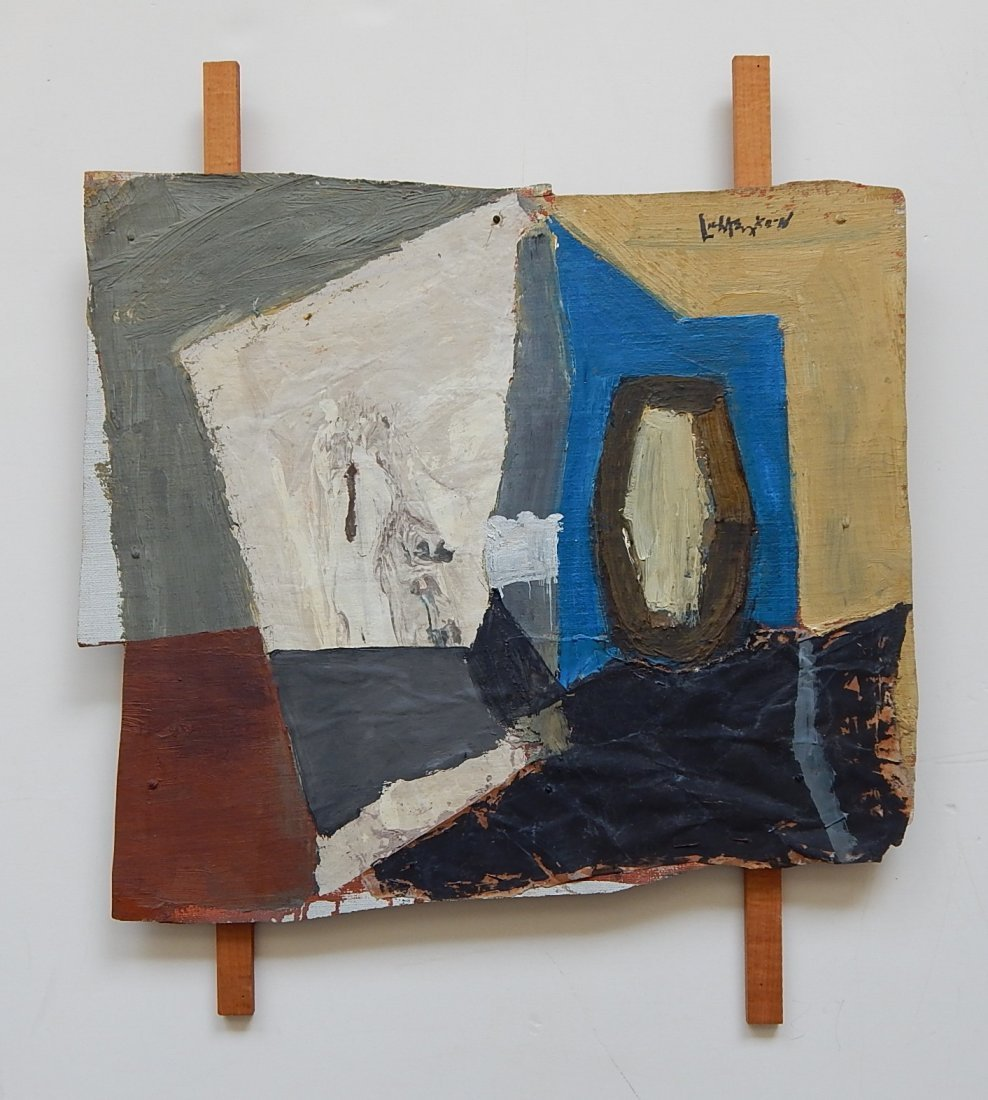 Roy Lichtenstein oil and wood collage