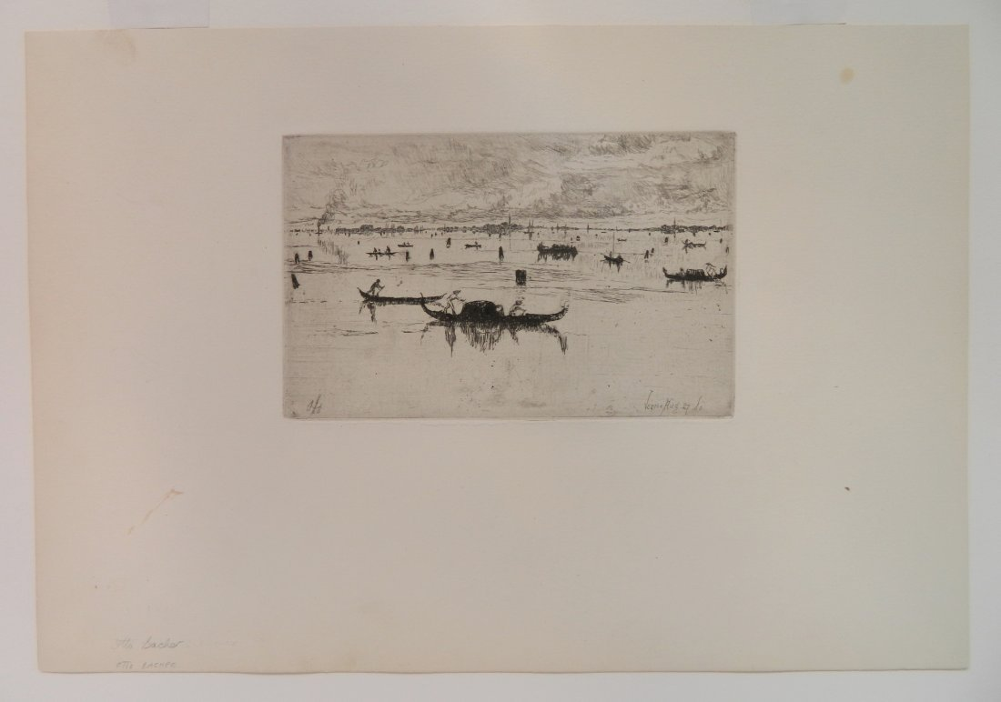 Otto Bacher etching - 2