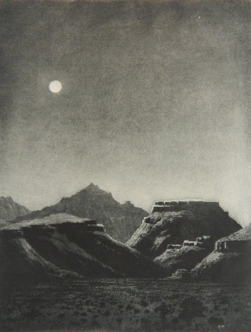 George Elburt Burr etching and aquatint