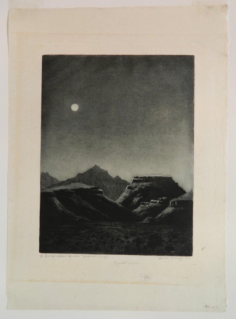 George Elburt Burr etching and aquatint - 2