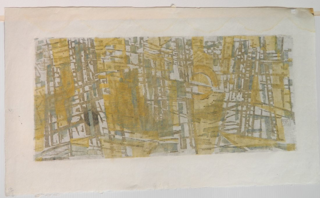 Werner Drewes woodcut - 4