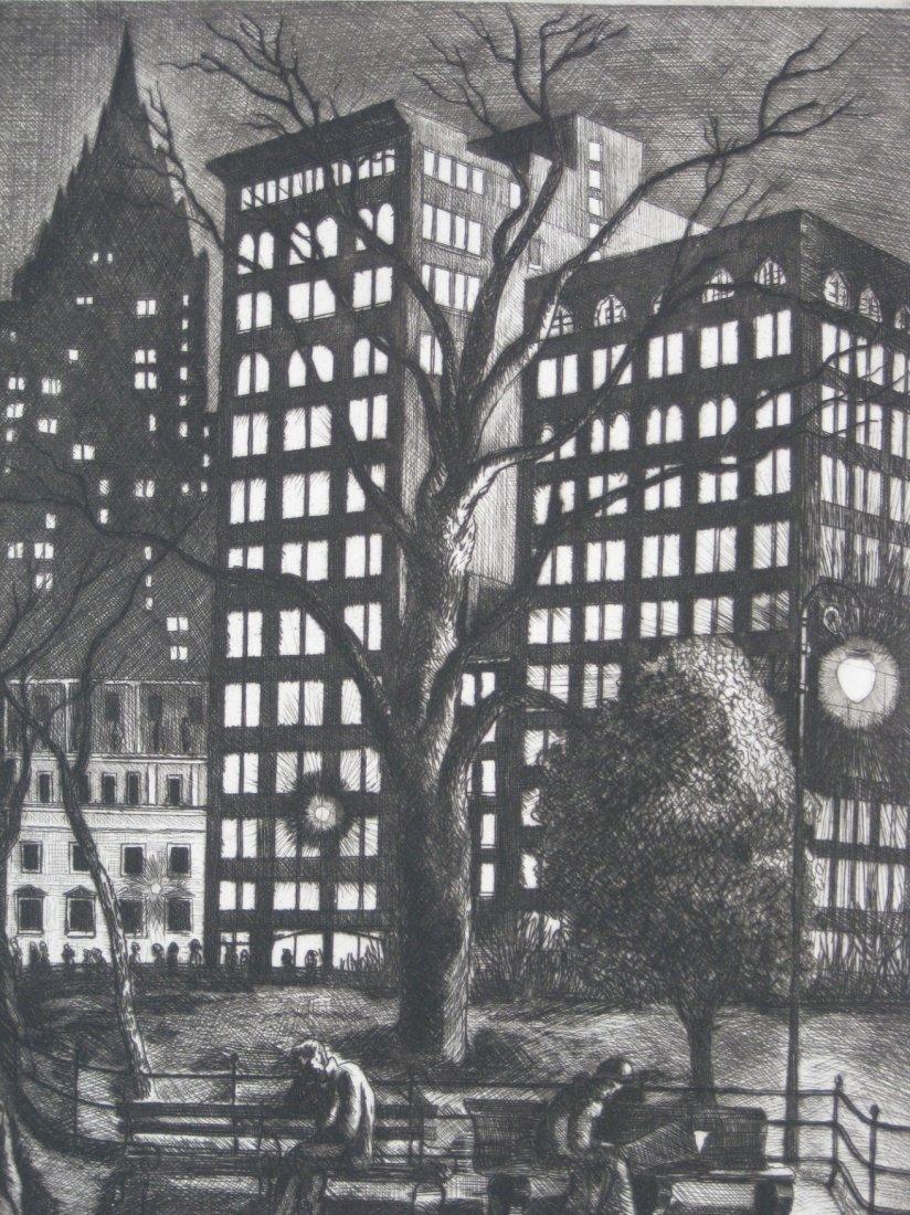Ernest Fiene etching